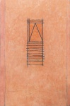 """GONÇALO IVO. """"Janela Ndebele"""", óleo s/tela, 200 x 130 cm. Assinado, intitulado e datado no verso, 1989. Sem moldura."""