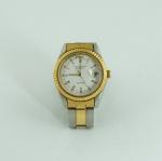 Relógio feminino da marca Technos Riviera, quartz, em metal dourado e prateado