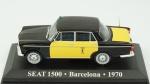 SEAT 1500 Barcelona, 1970. Acondicionado em caixa de acrílico.