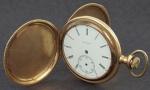 Relógio de bolso da marca ELGIN em ouro . Peso total 76.6 gr