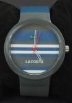 Relógio de pulso Lacoste, pulseira em borracha.