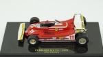 Ferrari 312 T4, 1979, Jody Scheckter. Acondicionado em caixa de acrílico.