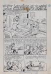 DANIEL AZULAY - Desenho original p/ Revista Turma do Lambe Lambe HQ, Editora Abril, nº 11 pág 28,nanquim,  bico de pena, medindo 21x32.5 cm. Preço de avaliação R$ 400,00