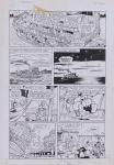 DANIEL AZULAY - Desenho original p/ Revista Turma do Lambe Lambe HQ, Editora Abril, nº 18 pág 24,nanquim,  bico de pena, medindo 21x32.5 cm. Preço de avaliação R$ 400,00