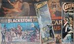 Poster de espetáculo - Mágico Blackstone e Ilusionistas medindo  78,5 x 133cm.Montado em duratex. Preço de avaliação R$ 600,00