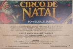 Flyer do Circo Garcia anunciando seu espetáculo Circo de Natal ,  medindo 48 x 32cm, montado em duratex. Preço de avaliação R$ 200,00
