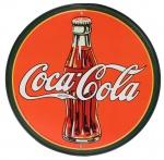 3 antigas placas decorativas - Coca-Cola Placa Redonda medindo 29,5 e  duas retangulares em metal da Cheerios e Please!  medindo 28,5 x 22,5cm e 19,5 x 40cm. Preço de avaliação R$ 300,00