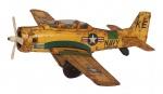 Antigo avião de coleção, Navy, em metal, medindo 24x20x7 cm ( marcas de tempo). Preço de avaliação R$ 500,00