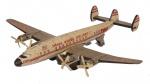 Antigo avião de coleção, Tway, 4 hélices,  em metal, medindo 26x23x6 cm ( marcas de tempo). Preço de avaliação R$ 500,00