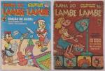 Lote c/ 2 Revistas Turma do Lambe Lambe - Editora Block/Abril n º 8 e nº 2. Preço de avaliação R$ 250,00