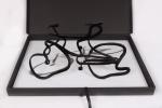 """DANIEL AZULAY - """"Módulo bicicleta """"- escultura em  acrílico, 2011, assinado. Preço de avaliação R$ 500,00"""