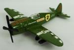 Miniatura Avião Militar - Mega Masters P-47D All American Resgate U.S.A.F.  , medida 11 x 12 cm.