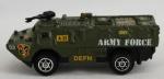 Miniatura carro militar - Army Force LA-22, medida 7,5 x 3 cm, acompanha caixa de acrílico medida 6,5 x 10 x 5,5 cm.