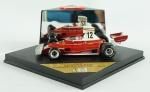 Carrinho de Formula 1 - QUARTZO 4031 ferrari 312T Nicky Lauda French Grand prix 1975, comprimento 10 cm, acompanha caixa em plástico, medida 5 x 11 x 11 cm.