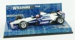 Carrinho de Formula 1 - Williams BMW FW22 Showcar 2001 Juan Plabo Montoya, comprimento 10,5 cm, acompanha caixa em plástico, medida 4 x 12,5 x 7,5 cm.