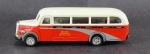 Ônibus - Modelo SS 6852 Mercedes-Benz, O 3500 Sunny Side, Medida 4,5 x 15 x 4 cm, acompanha caixa expositora em acrílico, medida 7,5 x 16,5 x 6 cm.