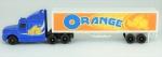 Caminhão Orange Since 1984 - Marca maisto  , medida 4 x 21 x 3 cm, acompanha caixa expositora , medida 7 x 24 x 5 cm.