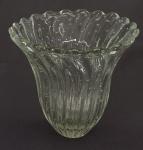 Grande vaso de cristal de Murano, transparente. Alt. 30 cm.