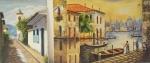 """Lote com 2 quadros decorativos, """" paisagens"""" medindo 40x30 cm e 40x60 cm"""