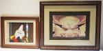 Lotes com 2 quadros decorativos, medidas totais 40x50 cm e 60x72 cm