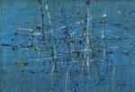 """ANTONIO BANDEIRA. """"Cidade Iluminada"""", óleo s/tela, 38 x 54 cm. Assinado CID. Emoldurado, 62 x 78 cm."""