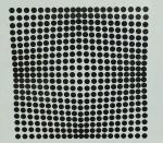 VASSARELI -  Geométrico, gravura medindo 39x38 cm, emoldurada c/ vidro 43x43 cm