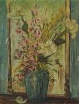 JD. VALLS- Natureza morta, óleo s/ tela, assinado frente e verso, datado de 74, medindo 35x27 cm, s/ moldura