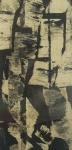 S/ASS - Composição, gravura em metal, década de 60, medindo 60x29 cm, emoldurado c/ vidro 81x50 cm