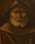 """Autor não identificado - """"cabeça masculina', óleo sobre tela, assinado c.i.d. e no verso. Medidas 41 x 33 cm, moldura 61 x 54 cm."""