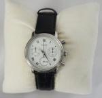Relógio Natan 2172, caixa em aço e pulseira,em couro na cor preta, na caixa.
