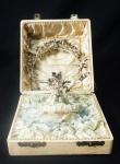 Antigo buquê com tiara para noivas em prata alemã, marca Altona, na caixa original, (no estado).