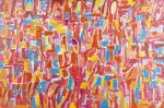 """COSME MARTINS . """"Sem Título"""", acrílico s/tela, 132 x 196 cm. Assinado cie e datado. (05145)"""
