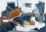 """ADALGIZA RIMOLI. """"Composição"""", acrílico s/tela, 117 x 165 cm. Assinado cid. (06165)"""