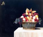 "CARLOS ANESI. "" Natureza morta"", óleo s/tela, 90 x 105 cm. Assinado cse. ( 00608)"