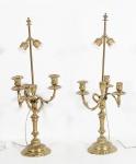 Par de candelabros adaptados para luz elétrica . Sem cúpula.