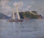 """GUSTAVO DALL'ARA (1865-1923). """"Ilha da Boa Viagem"""",            ,        x       cm. Assinado e datado no CID, 1910. Reproduzido no livro do artista , pág. 89."""