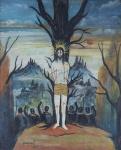 """ALBERTO DA VEIGA GUIGNARD. """"São Sebastião"""", óleo s/madeira, 60 x 50 cm. Assinado e datado no CIE, 1959."""