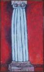 """BEATRIZ MILHAZES (Rio de Janeiro, RJ, 1960).""""A Vênus morreu de amor"""", óleo s/tela, 175 x 104 cm.Assinado e datado Dez/83 e titulado no verso. Acompanha certificado."""