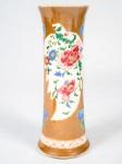 Cia. Das Índias - Jarra em porcelana policromada c/ flores e borboletas med. 21,5 cm
