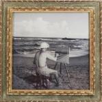"""PANCETTI. """"Mar Grande -Bahia"""". Fotografia  em preto e branco, 59 x 59 cm. Emoldurada com vidro, 89 x 89 cm. O negativo pertenceu ao gerente da Casa Cavalier  no Rio de Janeiro, Daniel Pereira."""
