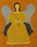 """DJANIRA DA MOTTA E SILVA. """"Santa"""", óleo s/tela, 57 x 47 cm. Assinado cid, datado 1964. Emoldurado, 83 x 72 cm. (07688)."""