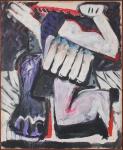 """DANIEL SENISE (Rio de Janeiro,RJ, 1955). """"Sem título"""", óleo s/tela, 160 x 130 cm. Assinado e datado 84 no verso."""