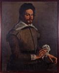 """Escola Irlandesa. Autor não identificado. """"Mosqueteiro"""", óleo s/tela, 96 x 78 cm. Século XVIII / XIX"""