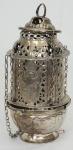 Turíbulo em prata brasileira (no estado). Alt. 28 cm. Peso 889 gr.