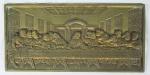 Santa Ceia em bronze med. 20x40cm (com suporte)