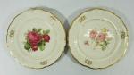 2 pratos em porcelana polonesa KPM med. 27 cm de diâm