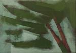 """CARLOS SCLIAR - """" Abstrato"""" vinil s/ colagem encerada, ass no CIE e verso, med. 26x37 cm, c/ moldura 51x61 cm"""