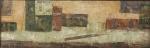 """ZÉ PAULO -  """" Abstrato"""" OST, ass. no CID, datado de 89, med. 15x45 cm, c/ moldura 30x60 cm"""