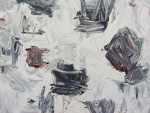 """ROGERIO TUNES. """"Sem Título"""", acrílico s/tela, 61 x 80 cm. Assinado e datado no verso, 2010. Sem moldura."""