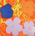 """ANDY WARHOL. """"Flowers 11.69"""", 90 x 90 cm.Impressão autorizada/executada by Sunday B.Morning. Acompanha certificado. Sem moldura."""